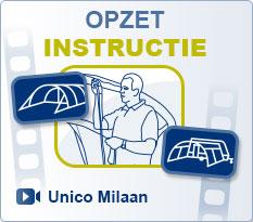 Voortenten Unico | Opzet instructie Unico Milaan Voortent