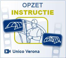Voortenten Unico | Luifel Unico Verona Opzet instructie